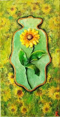Painting - Sunny Hamsa by Raya Finkelson