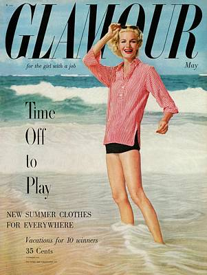 Sunny Harnett On The Cover Of Glamour Art Print by Leombruno-Bodi