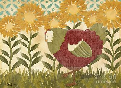 Wall Art - Painting - Sunny Hen I by Paul Brent