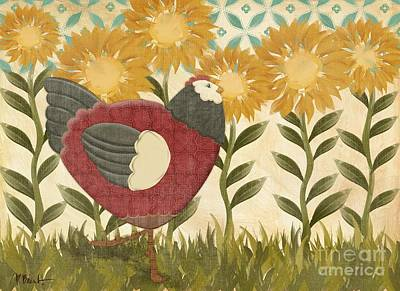 Wall Art - Painting - Sunny Hen II by Paul Brent