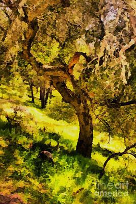 Painting - Sunny Hillside by Danuta Bennett