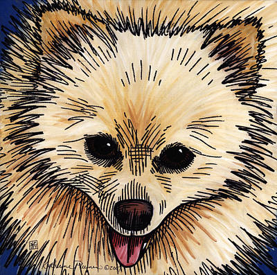 Pomeranian Painting - Sunny by Katherine Plumer