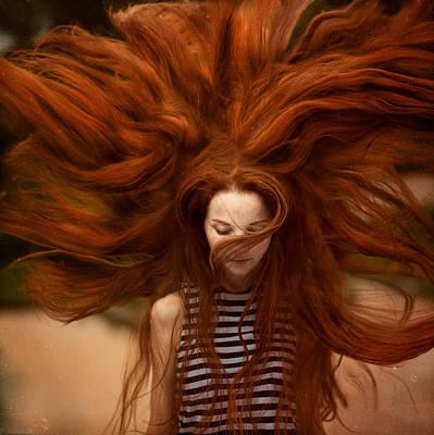 Red Photograph - sunny Katia by Anka Zhuravleva