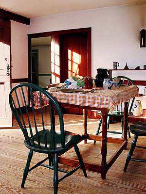 Checkered Tableclothes Photograph - Sunny Kitchen by Susan Savad