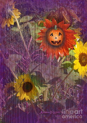 Digital Art - Sunny Pumpkin by Audra D Lemke