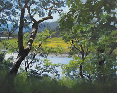 Painting - Sunny River by Karen Ilari