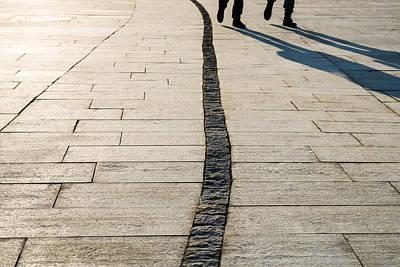 Tile Composition Photograph - Sunny Road by Alexander Senin