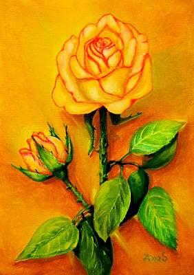 Sunny Rose Art Print