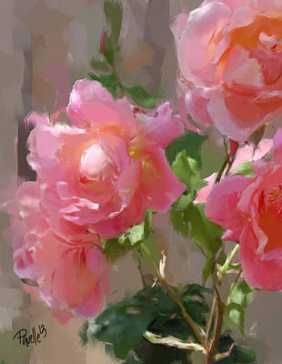 Sunny Roses Art Print by Jim Pavelle