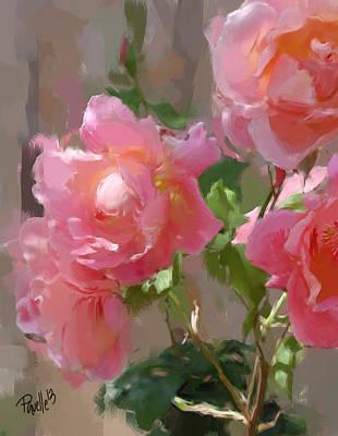 Sunny Roses Art Print