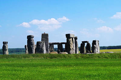 Photograph - Sunny Stonehenge by Sharon Popek