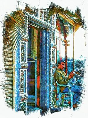 Sunny Sunday Morning Newspaper India Rajasthan Udaipur Art Print
