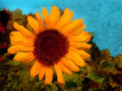 Digital Art - Sunny Sunflower  by Ann Powell