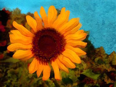 Digital Art - Sunny Sunflower  by Ann Powell