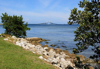 Photograph - Sunny Sunshine Skyway Bridge by Danielle Groenen