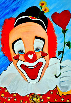 Painting - Sunny The Clown......... by Tanya Tanski