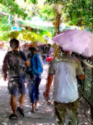 Digital Art - Sunny Walk Lamma Island by Yury Malkov