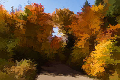 Digital Art - Sunny Warm And Colorful - Autumn Impressions by Georgia Mizuleva