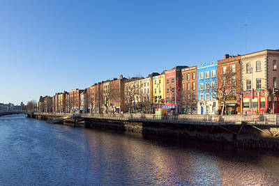 Photograph - Sunny Winter Day On The River Liffey In Dublin by Mark E Tisdale
