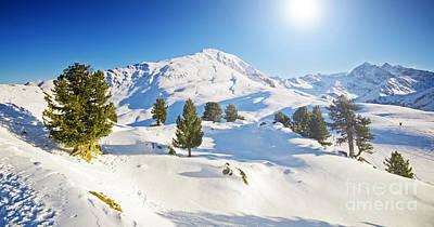 Frozen Photograph - Sunny Winter Mountain Lanscape by Michal Bednarek