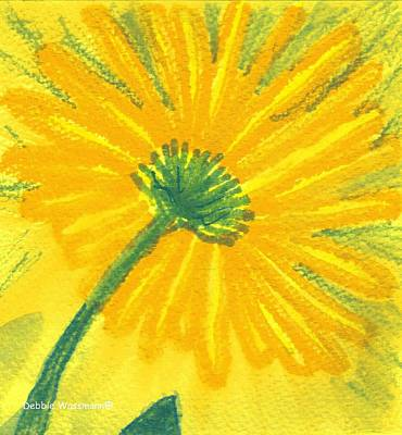 Daiseys Painting - Sunny Yellow Flower by Debbie Wassmann