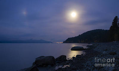 Lake Pend Oreille Photograph - Sunnyside Moon by Idaho Scenic Images Linda Lantzy