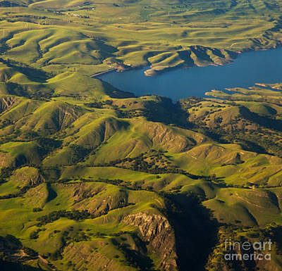 Sunol Wilderness From Above Art Print by Matt Tilghman