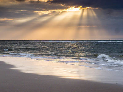Photograph - Sunrays And The Sea No1 by Martin Liebermann