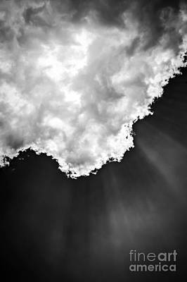 Sunrays In Black And White Art Print