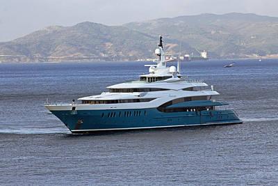 Photograph - Sunrays Luxury Yacht by Tony Murtagh
