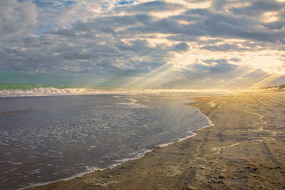 Photograph - Sunrays On The Ocean by Mary Almond