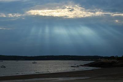 Sun Rays Digital Art - Sunrays Over Niles Beach by Toby McGuire