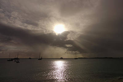Sint Maarten Wall Art - Photograph - Sunrays Over Simpson Bay by Toby McGuire