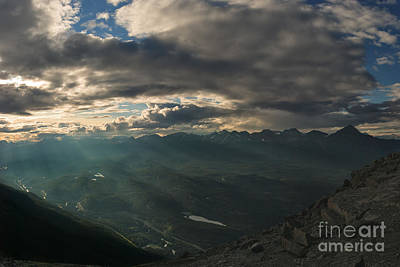 Sunrays Photograph - Sunrays Over The Victoria Cross Range by Charles Kozierok