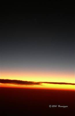 Photograph - Sunrise Above Clouds by Hemu Aggarwal
