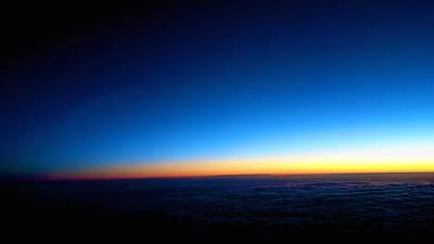 Alejandro Gutierrez Photograph - Sunrise Above The Clouds by Alejandro Gutierrez