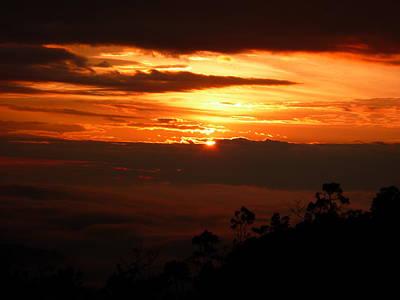 Sunrise Above The Clouds Art Print by Evan Hendrickson