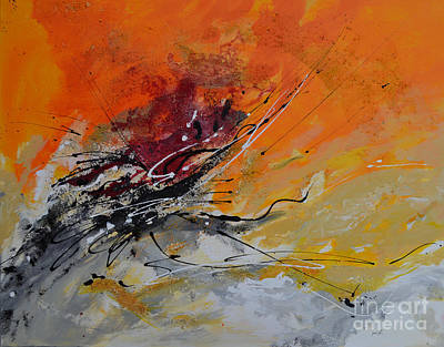 Isi Painting - Sunrise - Abstract 1 by Ismeta Gruenwald