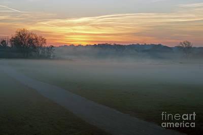 Sunrise Across The Fog Path Art Print