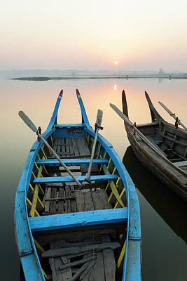 Sunrise, Amarapura, Mandalay, Burma Art Print by Peter Adams