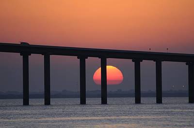 Photograph - Sunrise And Bridge by Bradford Martin