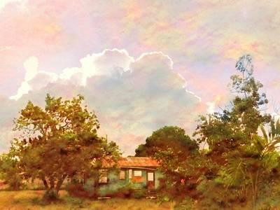 Digital Art - Sunrise And Island Homestead - Horizontal by Lyn Voytershark