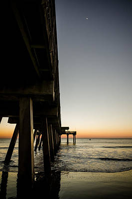 Photograph - Sunrise And Moon At Tybee Island by Anthony Doudt