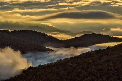 Blue Ridge Parkway Waterfalls Photograph - Sunrise And Mountain Mist, Blue Ridge by Adam Jones