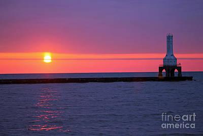 Lady Bug - Sunrise and purple sky 2 by Eric Curtin