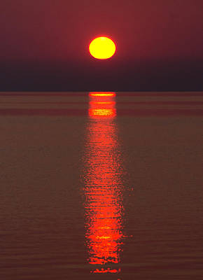 Tecumseh Photograph - Sunrise And Reflection by Cale Best