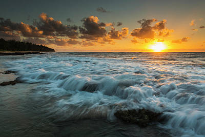 Photograph - Sunrise And Surf On The East Coast by Carl Johnson
