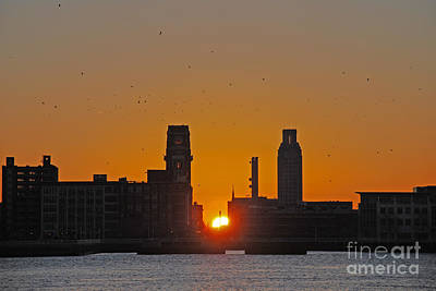 Sunrise And The City Art Print