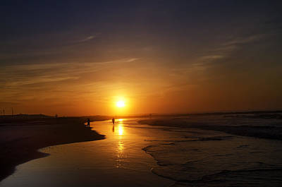 Ocean Photograph - Sunrise At Atlantic City by Bill Cannon