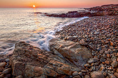 Photograph - Sunrise At Bass Rocks by Susan Cole Kelly